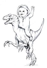Great Velociraptor Coloring Page 86 On Free Kids With