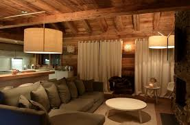 canap chalet modern chalet interior design cosy neve design