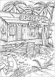 Welcome To Dover Publications Creative Haven Summer Scenes Coloring Book