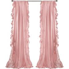 Pink And Purple Ruffle Curtains by Kids U0027 Curtains