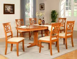 Cherry Wood Dining Table And Chairs Sourcelearngermanwords 7PC