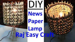 How To Make Newspaper Lamp