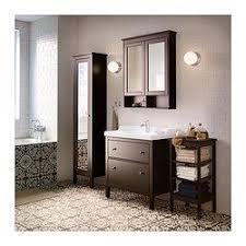 hemnes rättviken bathroom vanity black brown stain