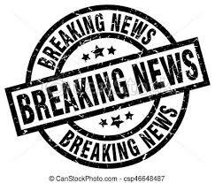 Breaking News Round Grunge Black Stamp