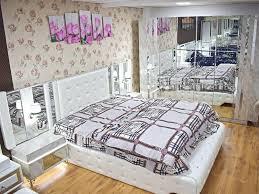schlafzimmer komplett bett schrank schminktisch spiegel set neu