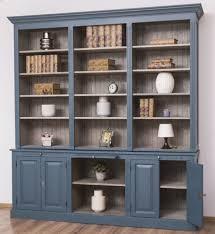 casa padrino landhausstil wohnzimmerschrank blau grau 229 x 51 x h 244 cm massivholz schrank bücherschrank regalschrank landhausstil möbel