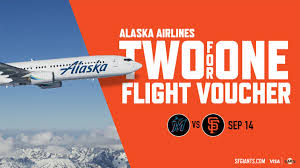 SF Giants 2-for-1 Flight Voucher Giveaway With Alaska ... American Airlines Coupon Code Number Pay For Flights With Ypal Credit Alaska Mvp Gold 75k Status Explained Singleflyer Credit Card Review Companion Certificate How To Apply Flight Network Promo Code Much Are Miles Really Worth Our Fly And Ski Free At Alyeska Official Orbitz Promo Codes Coupons Discounts October 2019 Air Vacations La Cantera Black Friday Klm Deals Promotions Dr Scholls Coupons Printable 2018 Airline Flights Codes 2017 Otrendsnet The Ultimate Guide Getting Upgraded On