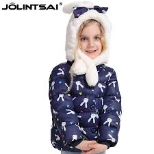 new cartoon rabbit winter jackets for girls 2016 princess