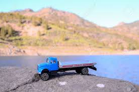 100 Toy Trucking Transportation Concept Old Truck On The Rocks Stock Photo