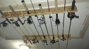 diy ceiling mounted fishing rod rack youtube