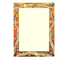 Paper Borders Design Word Autumn Template Clip Art Border Designs For Projects