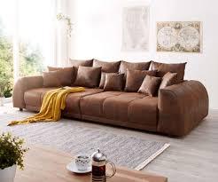 bigsofa violetta braun 310x135 cm antik optik inklusive kissen big sofa