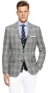 hugo plaid suit the regular fit linen wool plaid sport coat