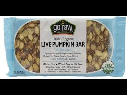 Go Raw Sprouted Pumpkin Seeds Bar by Healthy Vegan Snacks Go Raw Live Pumpkin Bar Review Youtube