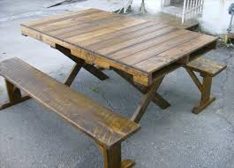 Diy Dining Table Pallet Wood Rustic