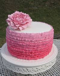 Ruffle Ombre with a Pink Peony