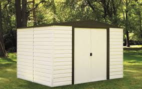 Sears Metal Shed Instructions by Arrow Vinyl Dallas 10x12 Metal Shed Vd1012 D1 Free Shipping