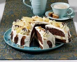schoko cantuccini torte mit birnen