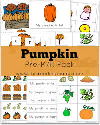 Printable Pumpkin Books For Preschoolers by Free Pumpkin Prek K Pack