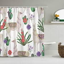 nolovvha duschvorhang peru aquarellmalerei mit lamas und