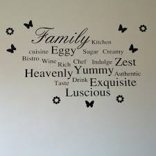 Family Words Kitchen Wall Art