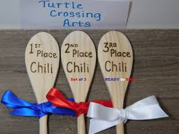 Awards And Decorations Board Questions by Chili Cook Off Wooden Spoons 1st 2nd 3rd Place Awards Trophy