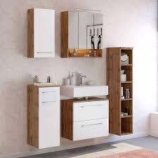 hängendes badezimmer regal 25x130x35 cm lemnas