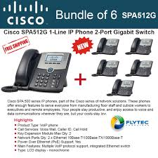 Cisco Spa512g Bundle Of 6 IP Phone For Business Or A Home Office ...