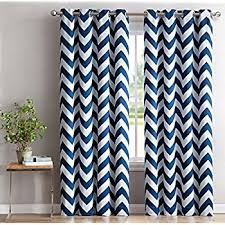 Tommy Hilfiger Curtains Special Chevron by Amazon Com Mainstays Chevron Polyester Cotton Curtain Panels Set