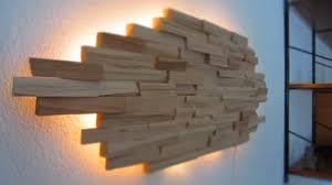 led designer wandbeleuchtung wandle le unikat aus holz