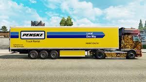 100 Penske Trucks Skin For The Refrigerated Trailer For Euro Truck Simulator 2