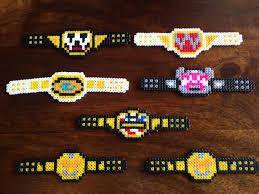 Wwe Divas Cake Decorations by Wwe Wrestling Title Belts Pixel Art Mini Bead Magnets
