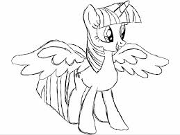 My Little Pony Coloring Pages Princess Twilight Sparkle Alicorn Elegant Of Printable