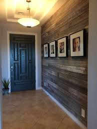 Transitional Entryway With Antique Reclaimed Wood Blend Flush Light Ms International Angelica Gold Travertine Tile Upstairs Hallway