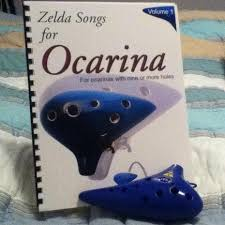 An Ocarina Of Time With A Zelda Song Book
