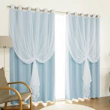 Amazon Lace Kitchen Curtains by Amazon Com Best Home Fashion Mix U0026 Match Wide Width Tulle Lace