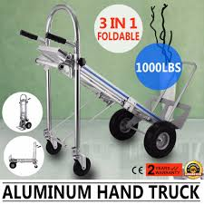 Vevor Folding Hand Truck 3 In 1 Convertible Hand Truck 1000lbs ... Cosco Shifter 300 Lb 2in1 Convertible Hand Truck And Cart In Roty Heavy Duty 70kg Weight Capacity Industrial Trolley Magna Flatform Four Wheel Folding Harper 150 Truckhmc5 The Home Depot Magliner Twowheel With Straight Fta19e1al Kinzo Folding Hand Truck 90 Kg Personal Alinum Price From Souq Uae 200kg Stair Climbing W Mount It 264 Dolly Wayfair Orange Seville Classics Lweight Dollyluggage Luggage Utility