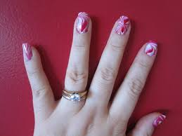 100 Nail Art 2011 Water Marble Nail Art Audreys Ramblings