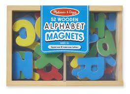 Amazon Melissa & Doug 52 Wooden Alphabet Magnets in a Box