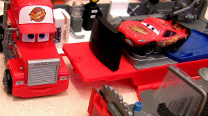 Heavy Construction Videos - Mack Truck Hauler Playset Disney Cars ...