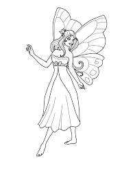 Beautiful Fairy Coloring Page 33 For Line Drawings With