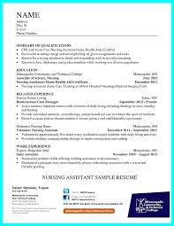 Objective On A Cna Resume Examples With Sample Templates For Make Amazing Career 954