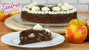 schokoladenkuchen mit apfel und nuss einfach nur lecker apfelkuchen mit schokoteig und nüssen