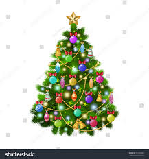 Xmas Tree Watering Devices by Christmas Tree Colorful Ornaments Vector Illustration Stock Vector