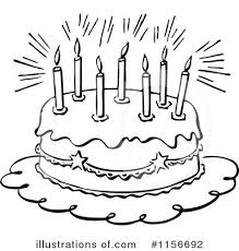 Royalty Free RF Birthday Cake Clipart Illustration by BestVector