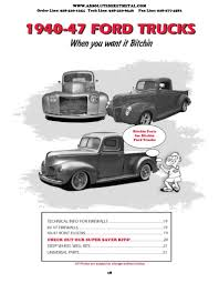100 Ford Truck Parts Online 47 Body Diagram Wiring Diagram 500