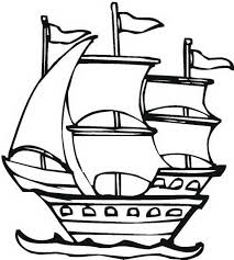 Columbus Pinta In Graphic On Day Coloring Page