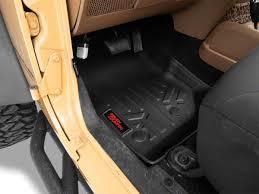 100 Heavy Duty Truck Floor Mats Rough Country Front Rear Black 1418 Jeep Wrangler JK 4 Door