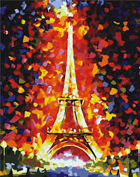 40x60cm Hand Painting Colorful Paris Eiffel Tower Canvas Abstract Modern Art Unframed Photo Famous World