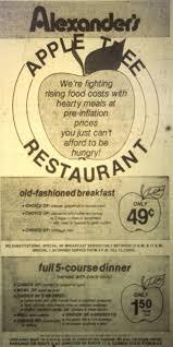 Christmas Tree Shop Deptford Nj by Apple Tree Restaurant Ad Restaurant Was In In Alexander U0027s Dept